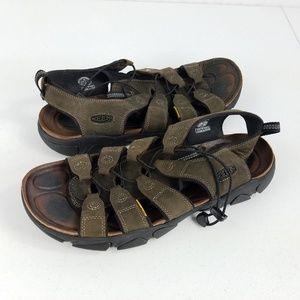 Keen Daytona Black Olive Leather Sandals